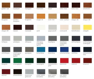 Colori profili VEKA