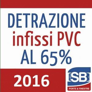 Detrazione infissi PVC 2016