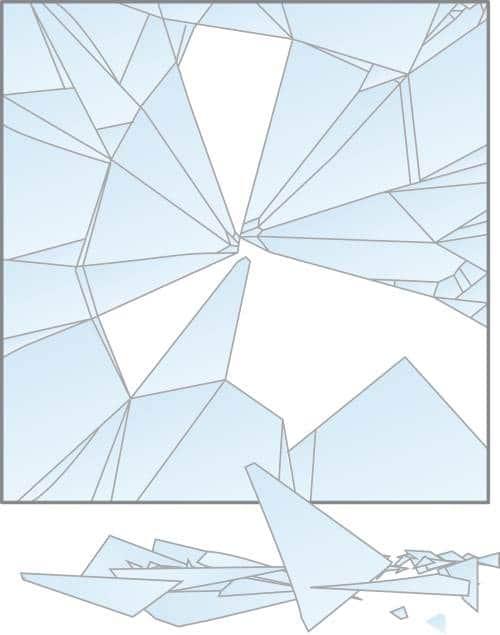Frammentazione vetro float