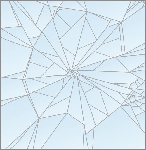 Frammentazione vetro stratificato