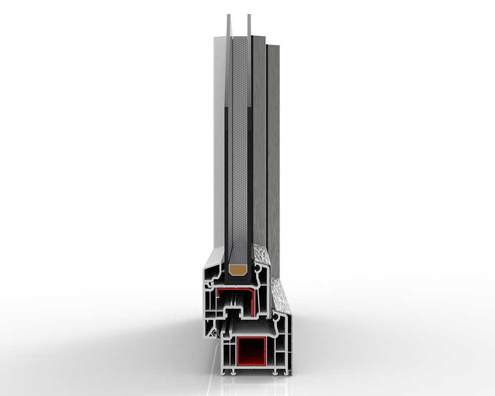 nodo frontale infissi pvc alluminio
