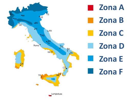 Zone climatiche Italia