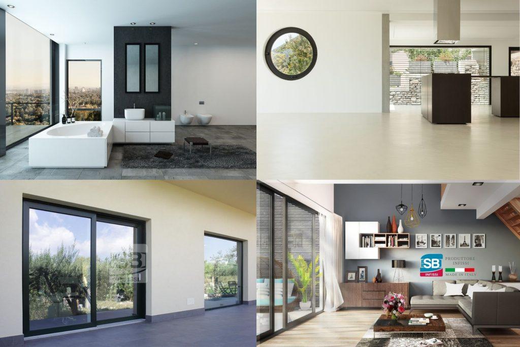 Esempi dell'impatto degli infissi sul design di casa
